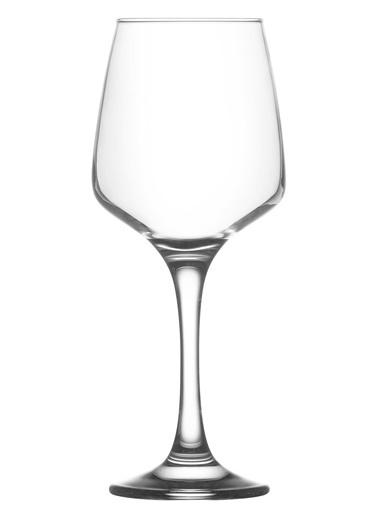 Lav 6'lı Lal Şarap Kadehi Renkli